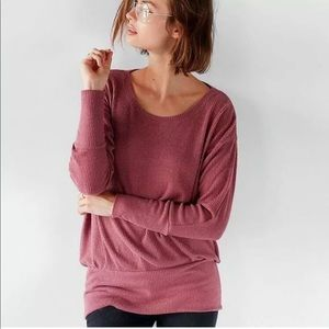 NEW! EXPRESS Jersey Ribbed Dolman Tunic in Blush